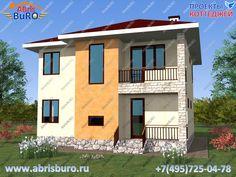 Проект двухэтажного дома K1136-146
