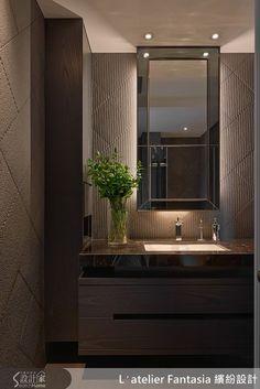 主臥浴室磁磚以菱形方式施工,難度提高,成品相當出色。