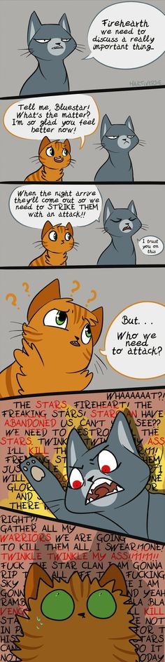 Bluestar lose her shit by Martiverse.deviantart.com on @DeviantArt