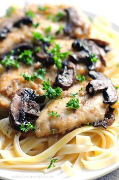 The perfect Chicken Marsala Recipe. It's pretty quick and easy for any weeknight meal.