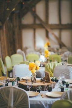Local DIY Yellow Barn Wedding