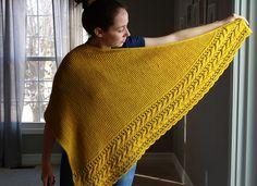 Fallen Cloud by Lisa Hannes, knitted by beckyswaff | malabrigo Worsted in Frank Ochre