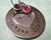 Mom Necklace- Hand Stamped Jewelry