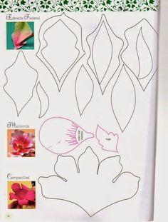 Revistas de manualidades Gratis: Como hacer flores navideñas en foamy:
