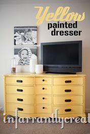 Yellow Painted Dresser-Sun Safari Dutch Boy Paint