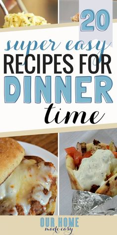 Here are more than 20 easy week night dinners for school nights! They are perfect for making as needed or prepping in advance for the week. See them here! #dinner #easydinner #recipes