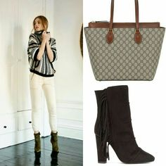 Veronica Beard look Gucci bag Giuseppe Zanotti shoes www.treschic.fashion