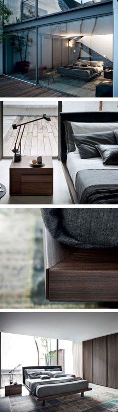 Das Design Holzbett Sheet von Novamobili hat ein modern