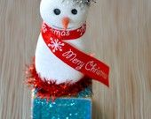 little bit funky etsy store - sweet little snowman