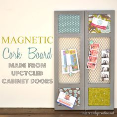 ideas for old cabinet doors | ... old cabinet into a fresh and modern Pottery Barn inspired cabinet