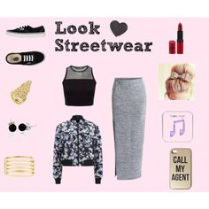 look streetwear by cassandree on Polyvore featuring mode, Alexander Wang, VILA, Vans, Kenneth Jay Lane, BCBGMAXAZRIA, Bling Jewelry, Happy Plugs and Rimmel