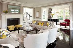 An elegant gray living room.  Your dream home starts here. .....Your dream home starts here.....Edmonton home builders http://michaelhomesinc.ca