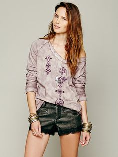 Free People Embroidered Pullover at Free People Clothing Boutique