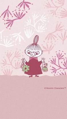 Moomin Wallpaper, Wallpaper Iphone Cute, Aesthetic Iphone Wallpaper, Pattern Wallpaper, Cute Wallpapers, Little My Moomin, Cartoon Photo, Tove Jansson, Simple Doodles