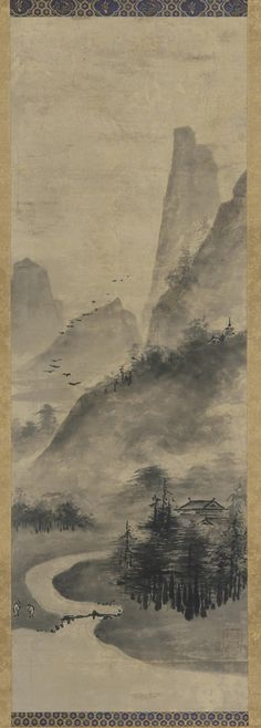 Japanese Art | Landscape: mountains and stream | F1899.104