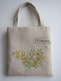 刺繍のミニバッグ(ミモザ)画像1