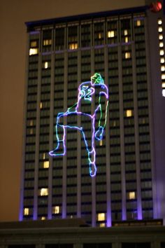 Ray Lewis  Laser Light City Scape