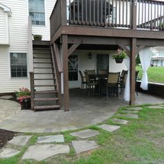 Second Story Deck On Pinterest Two Story Deck Patio Under Decks
