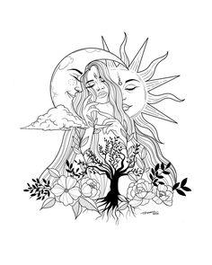 Cool Art Drawings, Art Drawings Sketches, Tattoo Sketches, Tattoo Drawings, Bild Tattoos, Body Art Tattoos, Small Tattoos, Sleeve Tattoos, Tatoos