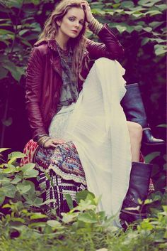 Free People March - Looking like the ultimate bohemian couple with both a flair for life and style, models Erin Wasson and Mark Wystrach tie the knot in the new Free P...