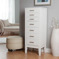 Have to have it. Hadley Floor Jewelry Armoire - High Gloss White $229.98