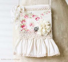 Flea Market Tote with Roses and Ruffles