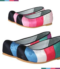 Hanbok rainbow flower shoes    Hanbok dress Korean traditional clothes   girl wedding party dress    Click this picture, go to ebay page.