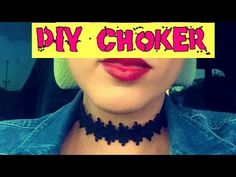 DIY easy choker necklace - YouTube