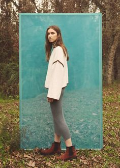 Contrast trim sweater | MANGO Photography Editing, Creative Photography, Editorial Photography, Portrait Photography, Fashion Photography Inspiration, Photoshoot Inspiration, Outdoor Fashion Photography, New Mode, Creative Portraits
