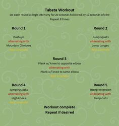 Tabata workout -- full body