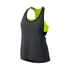 Women's Nike Pro Inside Loose Tank ($35) ❤ liked on Polyvore featuring activewear, activewear tops, tops, nike sportswear, nike activewear and nike
