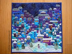 Night Time Happy Village by Mary