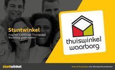 Stuntwinkel.nl heeft de certificering goed doorlopen en mag vanaf 26-08-2015 het Thuiswinkel.org logo gaan voeren op haar website zodat consumenten  met vertrouwen en zonder zorgen kunnen komen shoppen bij ons. #thuiswinkelwaarborg Website, Logo, Movies, Movie Posters, Logos, Films, Film Poster, Cinema, Movie