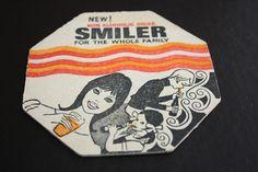 Old Beermat Smiler non-alcoholic drink (1N36) 7/14