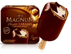 Double Caramel Magnum Ice Cream Bar - Magnum I first had these when I was studying in Italy. We finally got them in the states last year. Best ice cream bar EVER.