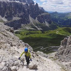 Climbed via ferrata Gran Cir (2592m) today. Good route for a warm up. Via ferrata (Italian for 'iron road') is a protected climbing route found in Dolomites. On its route there is steel cable which runs along the route and is fixed to the rock. #italy #dolomites #travel #adventure #mountains #dolomiti #mountainlifedolomiti #puredolomites #passogardena #climbing #climb #viaferrata #ferrata #GranCir #hiking_official #hiking #instatravel #mthrworld #travelingram #traveladdict #earthpix…