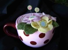 """""""Emma"""" pincushion kit from Just Another Button Company."""