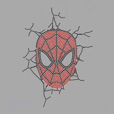 New - Spiderman Break Through Wall Rhinestone Hot Fix Motif Iron On Transfer Lead Free for Boy Birthday Party Superhero Theme Party