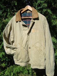 Canvas Vintage Canada Beaver Lumber Jacket Far by FleecenStuff
