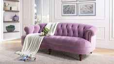 Special luxury purple color #frenchcountrysofa
