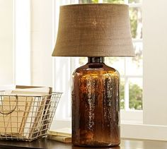 Clift Glass Table Lamp Base - Espresso #potterybarn