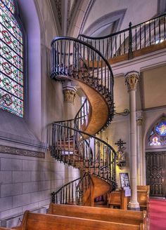AMAZING spiral staircases around the world.