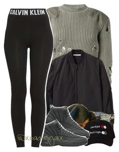 """""""."""" by xbad-gyalx ❤ liked on Polyvore featuring adidas Originals, T By Alexander Wang and Calvin Klein"""