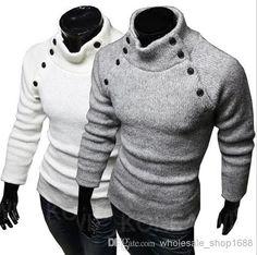 Men sweater fashion cotton sweaters turtleneck sweater