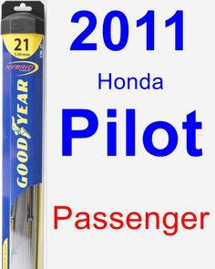 Passenger Wiper Blade for 2011 Honda Pilot - Hybrid