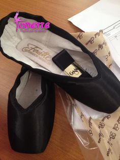 Custom made Black Grishko Pointe Shoes for a costumer