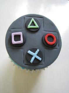 Gift idea for my boyfriends birthday Birthday Cake For Husband, 16 Birthday Cake, Boy Birthday Parties, Pastel Nintendo, Nintendo Cake, Sweet 16 Cupcakes, Fun Cupcakes, Cupcake Cakes, Playstation Cake