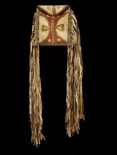 Parfleche Bag, Lipan Apache, 1875