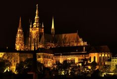 Its soaring spires visible from all over Prague, the Gothic St. Vitus Cathedral (Katedrála sv Vita) is one of the most beautiful cathedrals in Europe. Construction on the present building began in 1344 and was not completed until the 20th century.