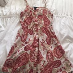 Printed dress Printed dress with buttons going down front Forever 21 Dresses Mini